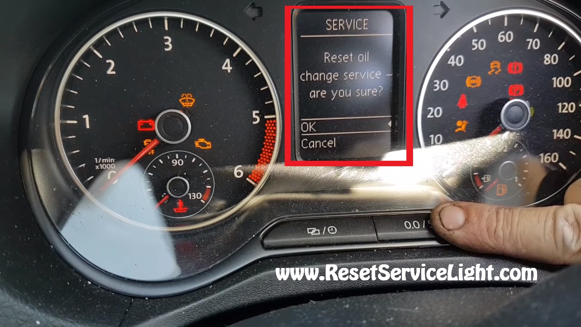 Turn off maintenace oil service VW Amarok