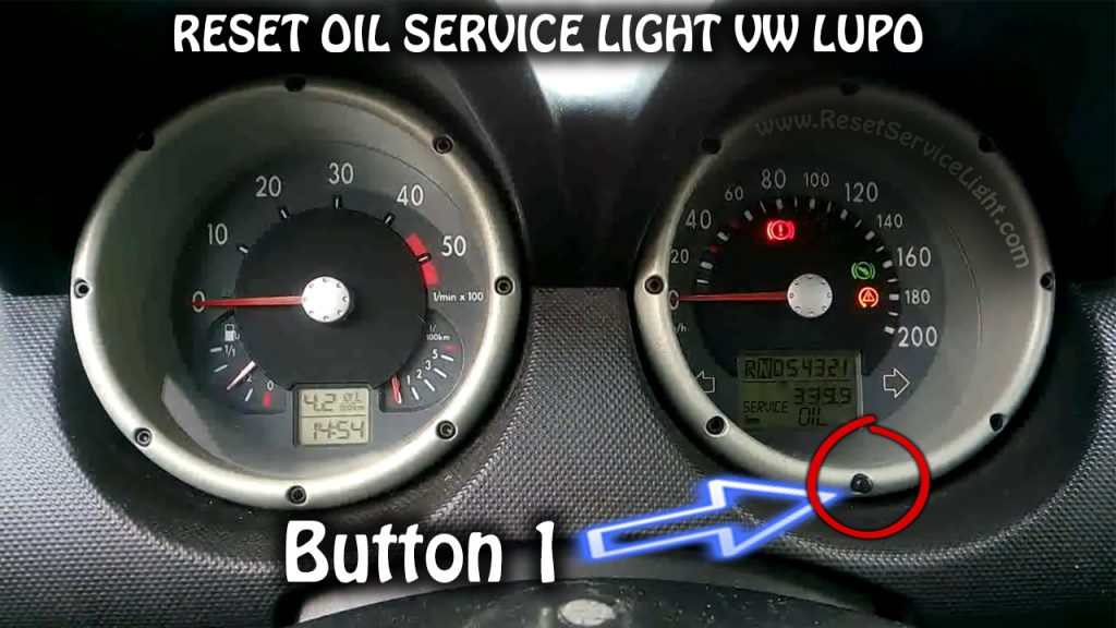 Reset maintenance OIL SERVICE VW Lupo