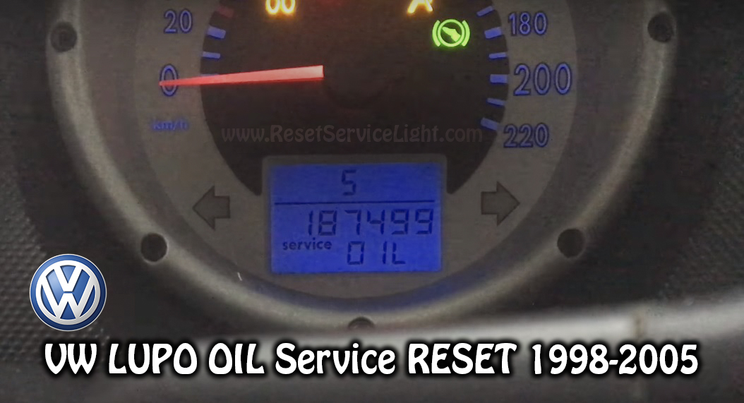 VW Lupo OIL service maintenance reset