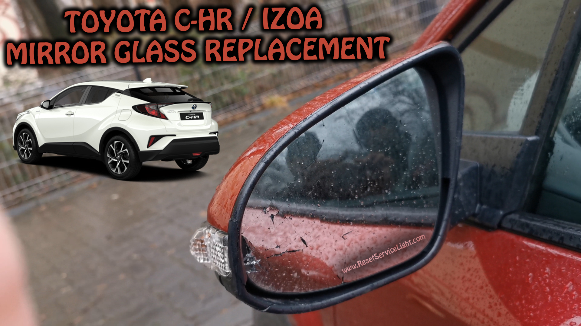 Change mirror glass Toyota CHR C-HR IZOA