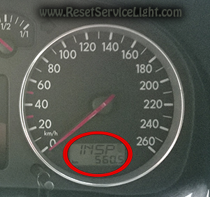 VW Bora reset insp service warning light