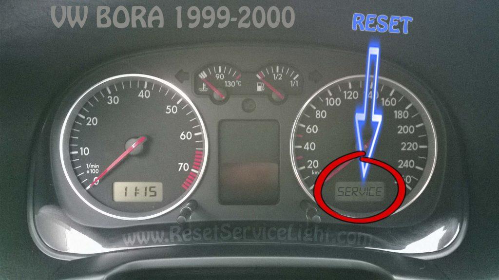 VW Bora 1999-2000 reset service light