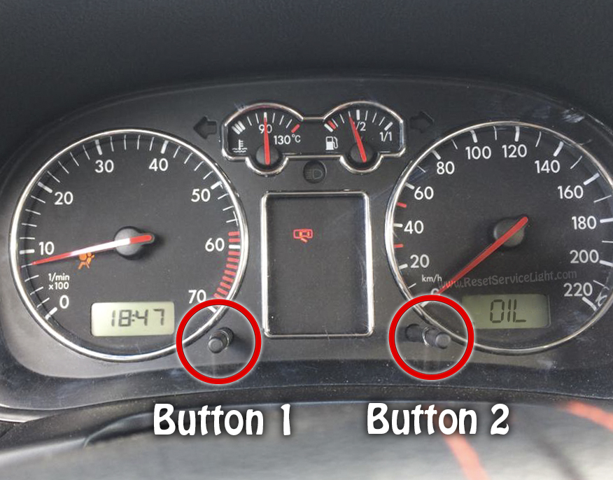 Turn off VW Bora Oil service light