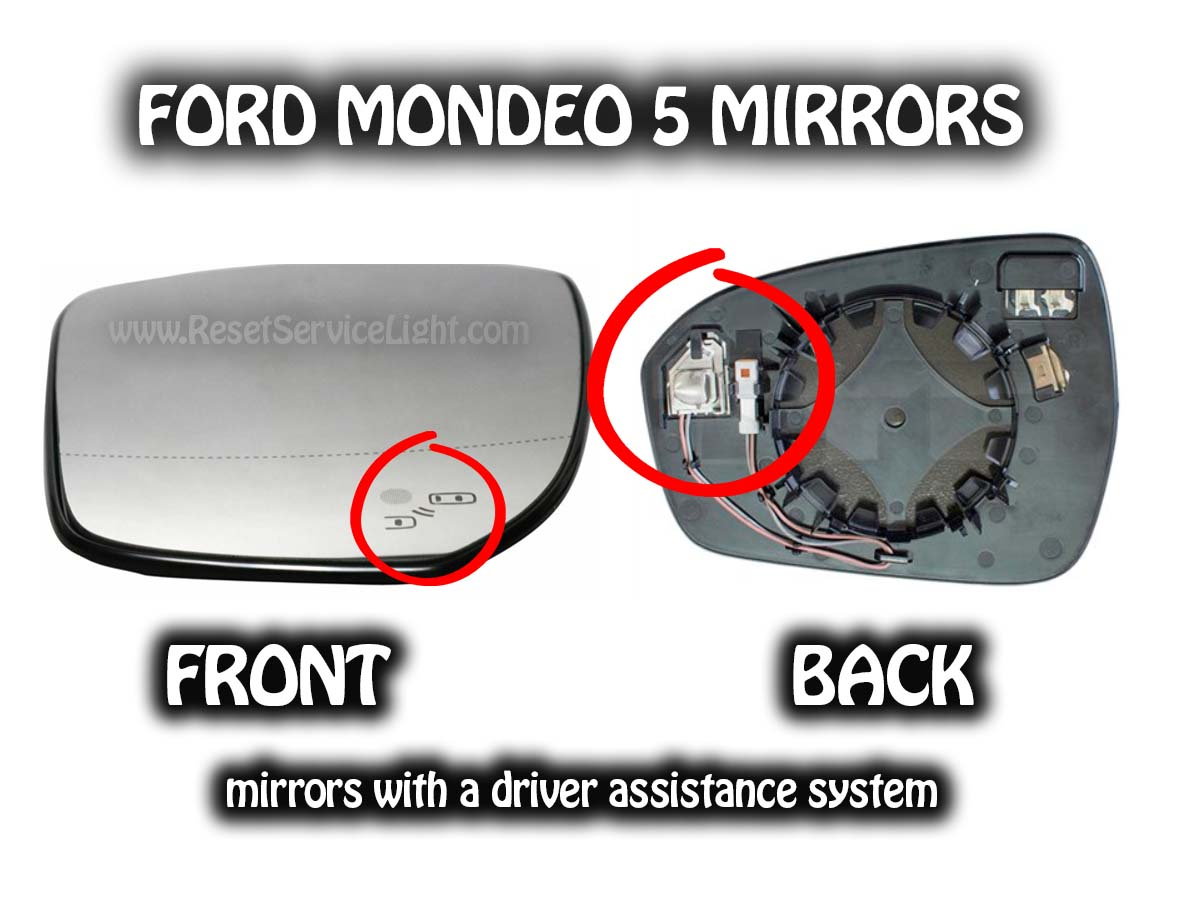 Change mirror glass Ford Mondeo V