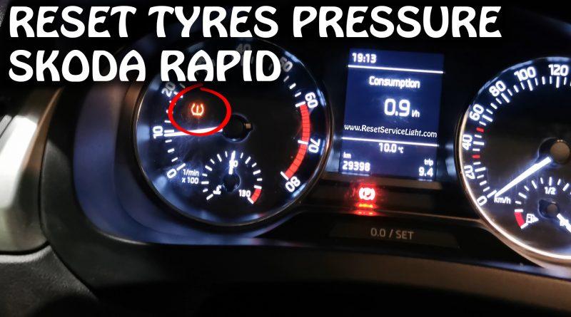Skoda Rapid turn off tire pressure display light